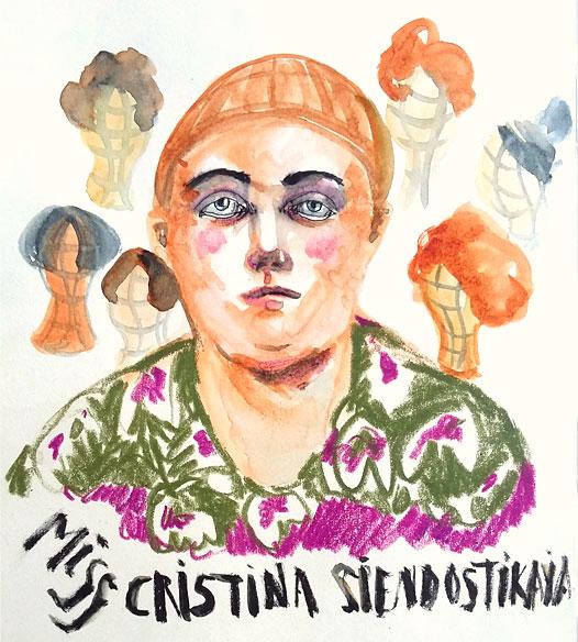 "<p><span style=""color: #808080; font-size: 8pt;"">Madame Siendostikaya. Acuarela y tinta sobre papel.</span></p>"